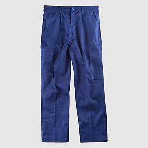 Calças multibolsos Workteam B1456 - azul marinho - tamanho 60