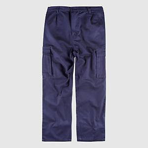 Calças multibolsos Workteam B1456 - azulino - tamanho 42
