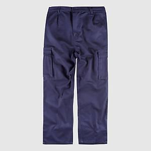 Calças multibolsos Workteam B1456 - azulino - tamanho 48