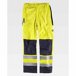 Calças ignífugas e de alta visibilidade Workteam B1492 - bicolor - tamanho 2XL