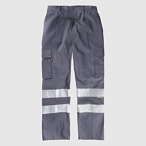 Calças multibolsos de alta visibilidade Workteam B1447 - cinzento - tamanho 42