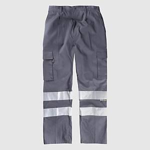 Calças multibolsos de alta visibilidade Workteam B1447 - cinzento - tamanho 48