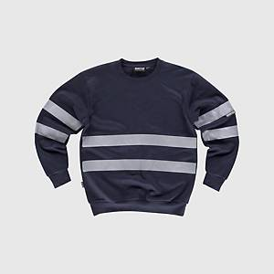 Sweatshirt de alta visibilidade Workteam C9031 - azul marinho - tamanho 3XL