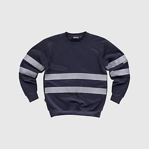 Sweatshirt de alta visibilidade Workteam C9031 - azul marinho - tamanho L