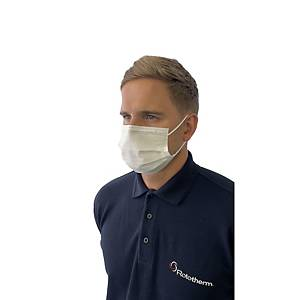 Disposable Face Mask Covering BSI Certified 3-Ply - Pack of 50