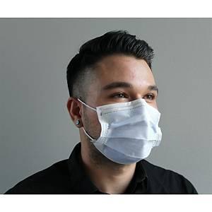 Masques chirurgicaux 3 plis type I bleus - boite de 50