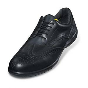 uvex business casual 95122 safety shoes, S1P SRC ESD, size 42, black