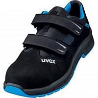uvex 2 trend 69362 safety sandals, S1P SRC ESD, size 44, black