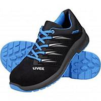 uvex 2 trend 69378 safety shoes, S1P SRC ESD, size 44, black