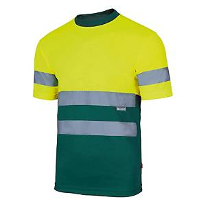 Camisola técnica bicolor Velilla 305506 - amarelo/verde - tamanho XL