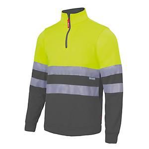 Sweatshirt bicolor alta visibilidade Velilla 305701 - amarelo/cinz. - tam. TL