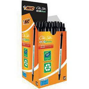 Bic Ecolutions Clic Stic Ball Pen Black - Box of 50