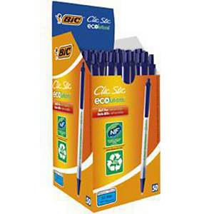Bic Ecolutions Clic Stic Ball Pen Blue - Box of 50