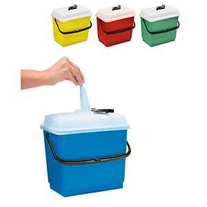 Cubeta con tapa hermética para paños impregnados - 4 L