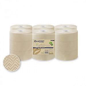 Pack de 18 rolos de papel higiénico mini jumbo - Ecolucart - 125 m
