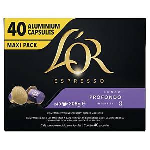 Café Senseo Lungo Profondo - paquet de 40 dosettes