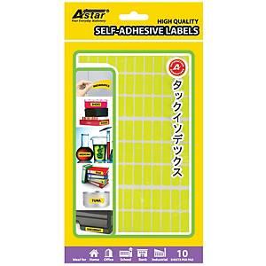 Adhesive Label 8X20MM Yellow - Box of 1170