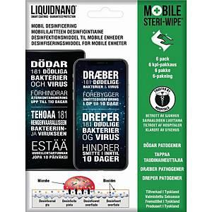 Renseservietter til skærm LiquidNano Steri-Wipe, pakke a 6 stk.