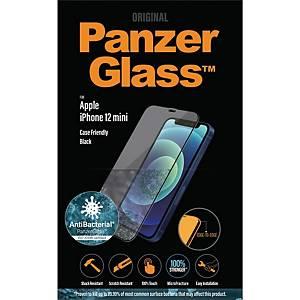 Beskyttelsesglas Panzerglass Apple iPhone 12 Mini, case friendly, sort