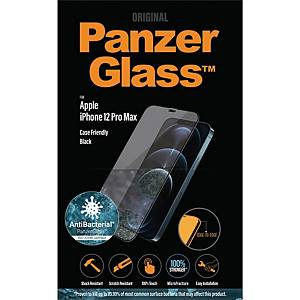 Skärmskydd Panzerglass Apple iPhone 12 Pro Max, case friendly, svart