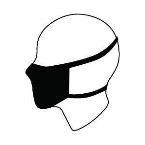 Wielorazowa maska higieniczna SILVER PROTECT, szara, opakowanie 3 sztuki