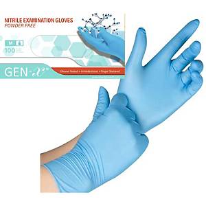 Nitril Einweghandschuhe GEN-X, Grösse M, Packung à 100 Stk., blau