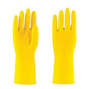 PAIR HOUSEHOLD RUBBER GLOVE M YLLW