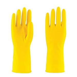 Household Rubber Glove Medium Yellow - One pair