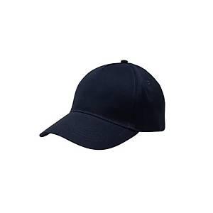 Gorra ajustable de 5 paneles Mukua - azul marino - talla única