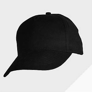 Gorra ajustable de 5 paneles Mukua - negra - talla única