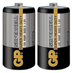 GP Supercell D Carbon Zinc Shrink Pack - Pack of 2