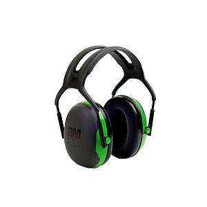 Casque antibruit 3M Peltor™ X1, SNR 27 dB, noir/vert