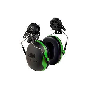 Casque antibruit 3M Peltor™ X1 pour casque, SNR 27 dB, noir/vert