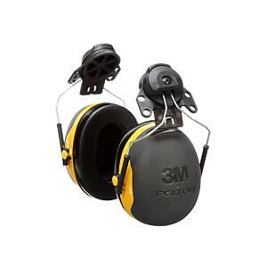 Casque antibruit 3M Peltor™ X2 pour casque, SNR 31 dB, noir/jaune
