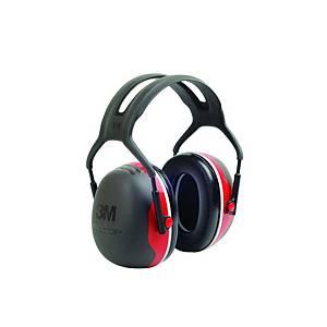 Casque antibruit 3M Peltor™ X3, SNR 33 dB, noir/rouge