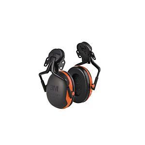 Casque antibruit 3M Peltor™ X3 pour casque, SNR 33 dB, noir/rouge