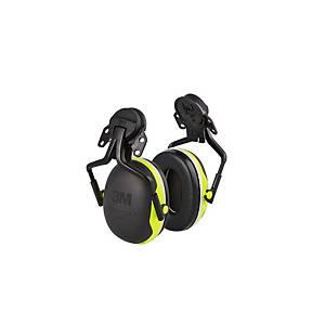 Casque antibruit 3M Peltor™ X4 pour casque, SNR 33 dB, noir/jaune