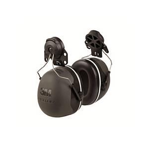 3M Peltor™ X5 gehoorkap voor helm, SNR 37 dB, zwart/grijs
