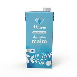 Maire Rasvaton maito 0% (VL) UHT 1 litra 1 pakkaus=8 tölkkiä