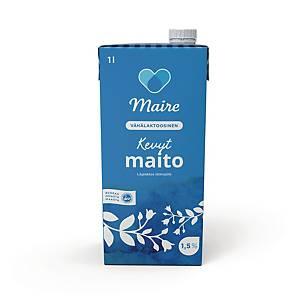Maire Kevytmaito 1,5% (VL) UHT1 litra 1 pakkaus=8 tölkkiä