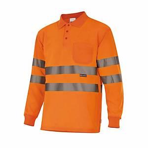 Polo de manga comprida alta visibilidade Velilla 174 - laranja - tamanho S