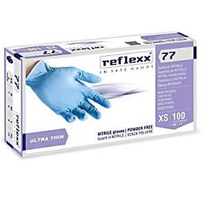 Guanti monouso Reflexx 77 nitrile blu tg XL - conf. 100