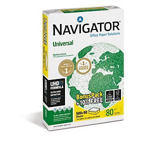 Navigator Universal Paper A4 80gsm White - Bonus Pack +10% Free (Box of 5 Reams)