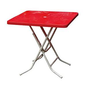 PK2 FOLDING TABLE 740X740X730 RED