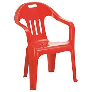 [직배송]실외용 파라솔의자 550X340X740 적색 4개팩