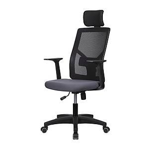 [직배송]퍼스트 M10 메쉬 싱글럭킹 고정팔 헤드형 사무용 의자