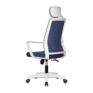 [직배송]퍼스트 M40 흰사출 헤드형 사무용 의자