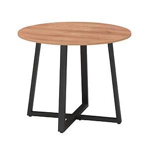 [직배송]멜론 원형테이블 ø1050XH720 원목&블랙