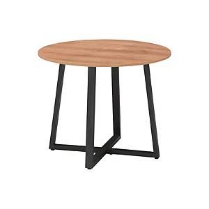 [직배송]멜론 원형테이블 ø1200XH720 원목&블랙