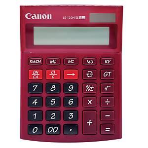 Canon LS-120 HI III Desktop Calculator 12 Digits - Red